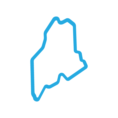 blue icon graphic state of maine outline