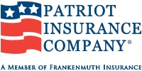 patriot insurance company logo graphic a member of frankenmuth insurance